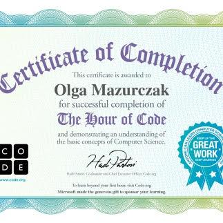 Certyfikaty z kodowania.